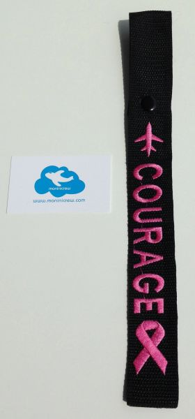 """Pink """"Courage"""" Crew Tag (Breast Cancer Awareness)"""