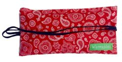 Spa & Dry Eye Pillow Heat Pack, red bandana
