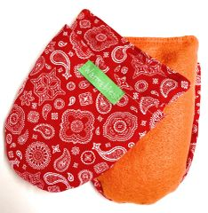 Arthritis Hand and Foot Warmers, red bandana flannel
