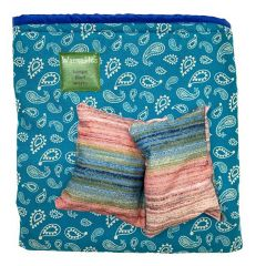 Food Warmer Sleeve, teal paisley