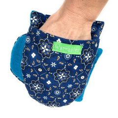 Arthritis Hand and Foot Warmers, blue bandana flannel
