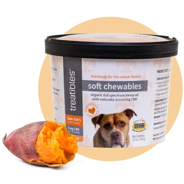 Treatibles Tater Tot's Sweet Potato Soft Chewables - 3 mg CBD