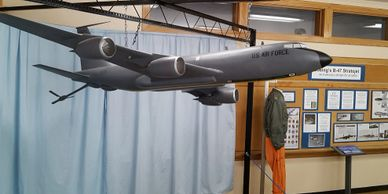 large model of a KC-135 aircraft