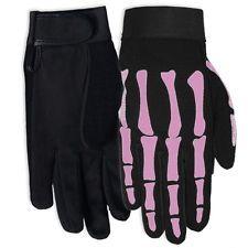 Ladys Pink Bone Mechanic Gloves