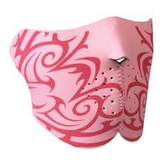 1/2 Pink Tribal Neoprene Facemask