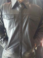 Men's Lamb Skin Leather Shirt