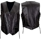 Women's Premium Braided Leather Vest