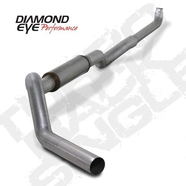 "Diamond Eye 5"" Aluminized Downpipe back No muffler 01-10 Duramax"