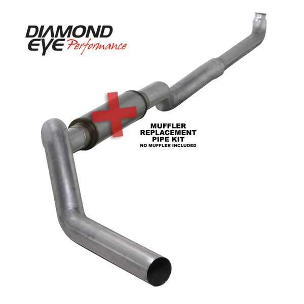 "Diamond Eye 5"" 409 Stainless Downpipe back No muffler 01-10 Duramax"
