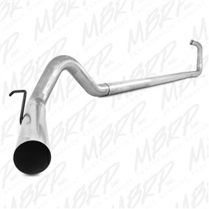 """MBRP S6212PLM 4"""" Aluminized Turbo Back Straight Pipe Exhaust fits '03-07 Ford F250/F350 6.0L"""