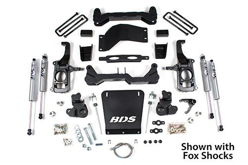 "BDS 11-18 GM 2500/3500 4-1/2"" Suspension Lift Kit w/ Fox shocks"
