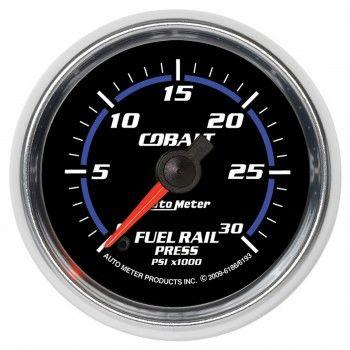 "Autometer 2-1/16"" FUEL RAIL PRESSURE, 0-30K PSI, STEPPER MOTOR, COBALT"