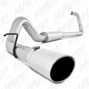 """MBRP S6212409 4"""" Turbo Back Single for 03-07 Ford 6.0L Powerstroke T409 Stainless"""