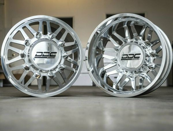 DDC Wheels AFTERMATH 22X8.25 8X210 GM 3500 11-20 12.50 TIRE HEX COVER
