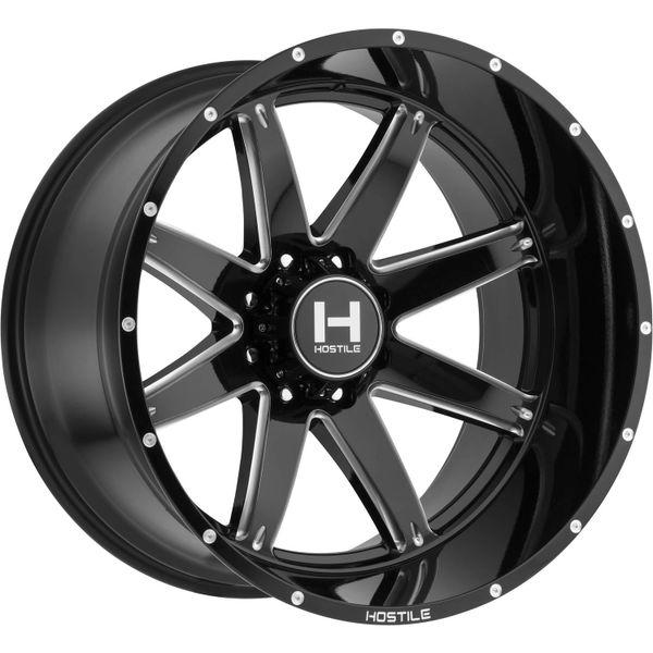 Hostile Alpha 22X12 -44 Offset Black and milled finish