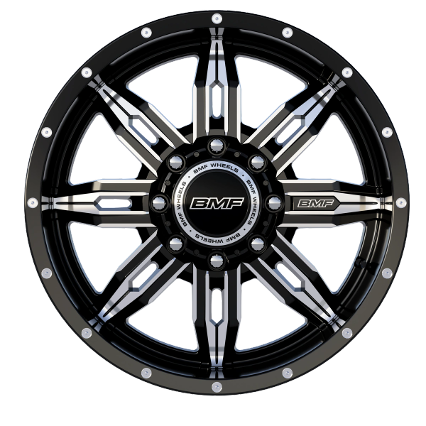 BMF Wheels Roulette 20x9 Black and milled
