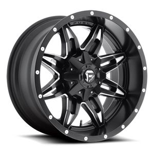 Fuel Off-Road D267 Lethal, Black Milled 20x10 8x170 -24mm offset 2005+Ford f250-350