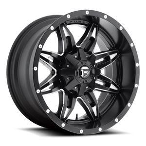 Fuel Off-Road D267 Lethal Black Milled 20x9 8x180 +1offset 11-15 GM 2500HD-3500