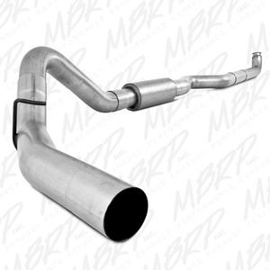 """MBRP 4"""" Aluminized Turbo Back for 01-10 GM 6.6L Duramax - Performance Series Exhaust"""