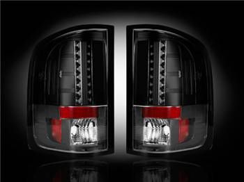 Recon Chevy Silverado 07-13 1500 & 2500 & 3500 GMC Sierra 07-14 (Dually only) LED TAIL LIGHTS - Smoked Lens