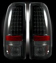 "Recon Chevy Silverado & GMC Sierra 99-07 (Fits 2007 ""Classic"" Body Style Only) LED TAIL LIGHTS - Smoked Lens"
