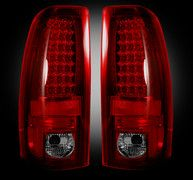 "Recon Chevy Silverado & GMC Sierra 99-07 (Fits 2007 ""Classic"" Body Style Only) LED TAIL LIGHTS - Dark Red Smoked Lens"