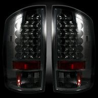 Recon Dodge 07-08 RAM 1500 & 07-09 RAM 2500/3500 LED TAIL LIGHTS - Smoked Lens