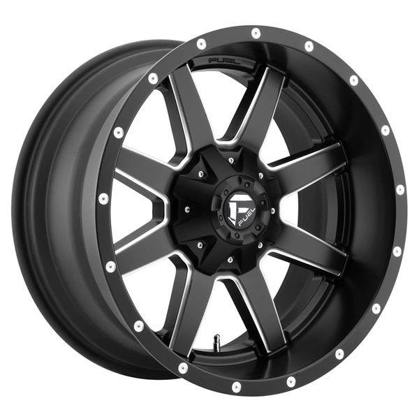 Fuel Off-Road Maverick D538 Black Machined 20x10 8x6.5 -18mm offset 01-10 GM 03-15 Dodge 2500-3500
