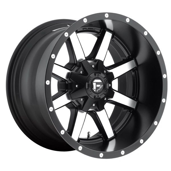 Fuel Off-Road Maverick D537 Black Machined 20x10 8x6.5 2001-2010 GM Duramax, 2003+ Dodge 2500-3500