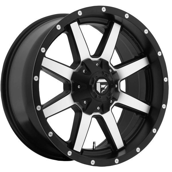Fuel Off-Road Maverick D537 Black Machined 20x9 8x180 2011-2015 GM Duramax +01 offset
