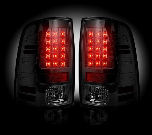 Recon LED Taillights - Smoked Lens Dodge 09-14 RAM 1500 & 10-14 RAM 2500/3500