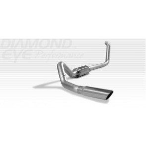 "Diamond Eye 4"" Aluminized Turbo Back for 94-02 Dodge 5.9L Cummins - No tip"