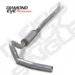 "Diamond Eye 01-10 Duramax 4"" Downpipe Back Single Exhaust"