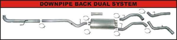 Flo-pro 4'' Turbo back dual kit 01-07 Duramax