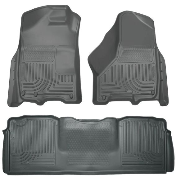 Husky Liners 2010-2016 Ram Mega Cab Front & 2nd Seat Floor Liners Gray