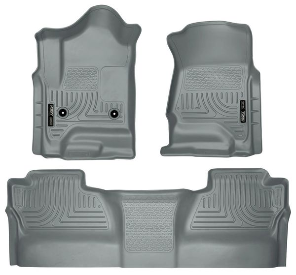 Husky Liners 2015-16 GMC/Chevy 2500/3500 Front & 2nd Seat Floor Liners Gray