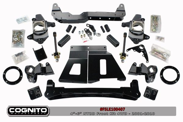 "Cognito NTBD 4"" lift kit with Fox shocks 01-10 GM 2500/3500"