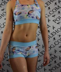 Siren blue stardust bottoms **update baby blue satin lycra bands
