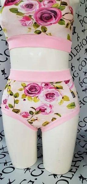 Pink English rose 🌹 (full) velvet high waisted panel pant