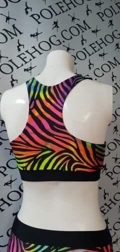 Rainbow zebra racer top