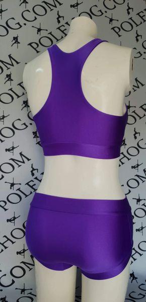 Uv purple colourz racer top