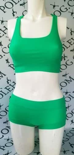 Vivid green colourz racer top