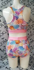 Sea shells (full) high waisted fitted pant