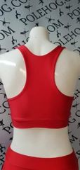 Bright red colourz racer top
