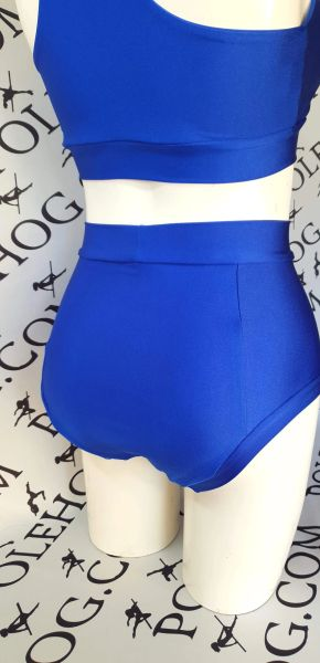 New improved Royal blue (full) fitted high waisted panel pant