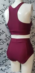 **New** burgundy wine high waisted panel pant