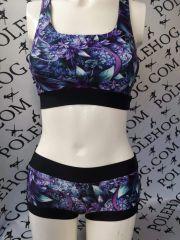 Purple fantasy flowers bottoms