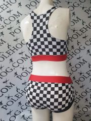 Grid girl racer back top