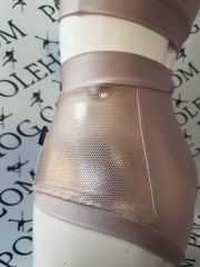 Rose gold (sides) high waisted fitted pant