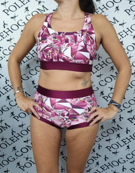 Diamonds and wine (full) high waisted fitted pant